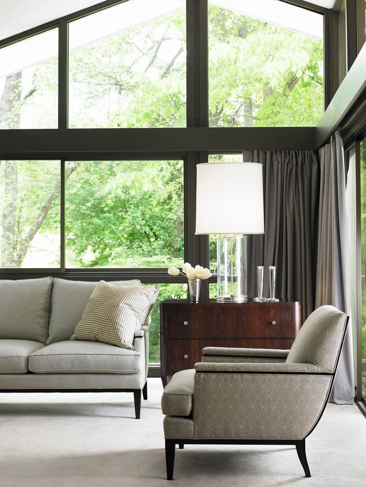 Hickory Chair Furniture for a Modern Family Room with a Hickory Chair and Hickory Chair Rooms by the Hickory Chair Furniture Co.