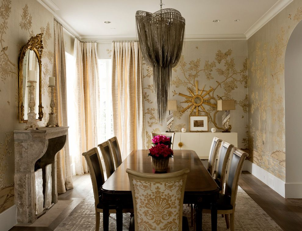 Hickory Chair Furniture for a Transitional Dining Room with a Buffet and Wilding by Thompson Custom Homes