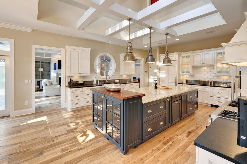 Hickory Furniture Mart for a Beach Style Kitchen with a Two Tone Cabinets and Kitchen by Echelon Custom Homes