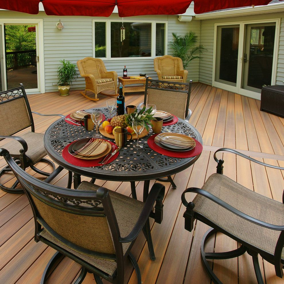 Hickory Furniture Mart for a  Deck with a Outdoor Seating and Fiberon by Fiberon Decking