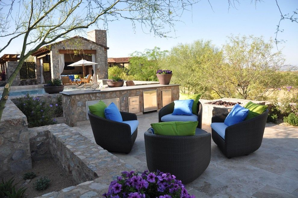 Hickory Furniture Mart for a Mediterranean Patio with a Tiles and Walnut Travertine Pavers by Travertine Mart