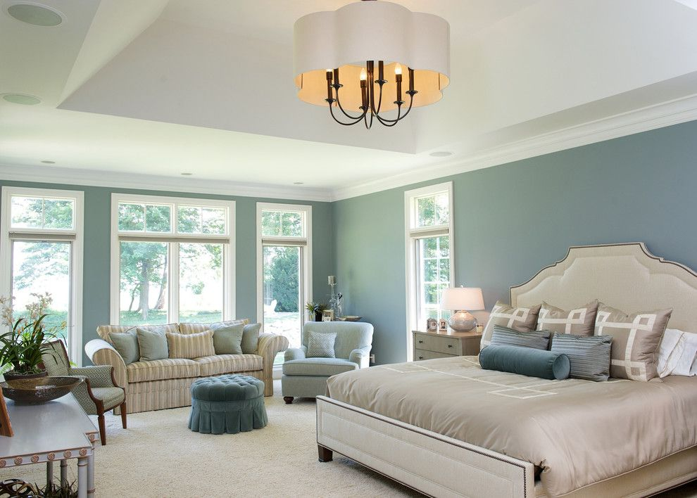 Hickory Furniture Mart for a Traditional Bedroom with a Tufted Ottoman and Living on the Lake by House of L Interior Design
