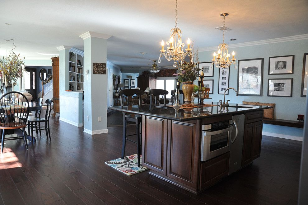 Hickory Furniture Mart for a Traditional Kitchen with a Bench Seating and Castro Kitchen by Sylvie Meehan Designs