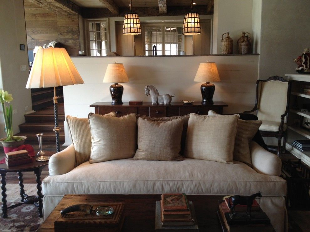 Hickory Furniture Mart for a Traditional Living Room with a Floor Lamp and Traditional Living Room by Kate Jackson Design