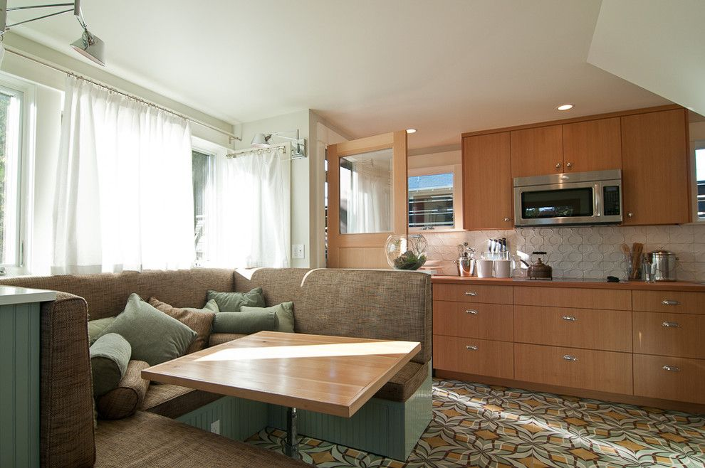 Hilltop Trailer Sales for a Contemporary Kitchen with a Contemporary and My Houzz: Tiny and Tinier; Big Space in a Small House and Smaller ADU. by Louise Lakier