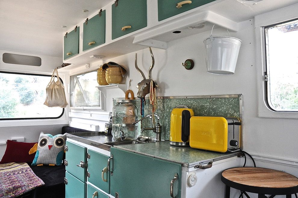 Hilltop Trailer Sales for a Eclectic Kitchen with a My Houzz and Woodside by Luci.d Interiors