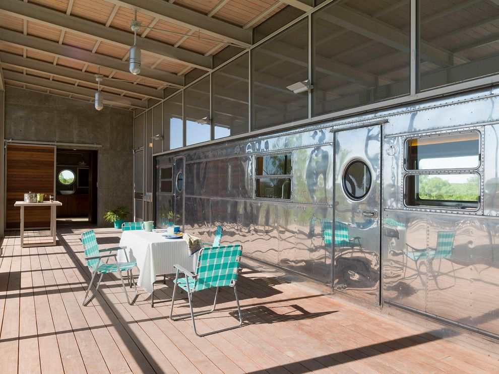 Hilltop Trailer Sales for a Modern Porch with a Wood Ceiling and Locomotive Ranch Trailer by Andrew Hinman Architecture