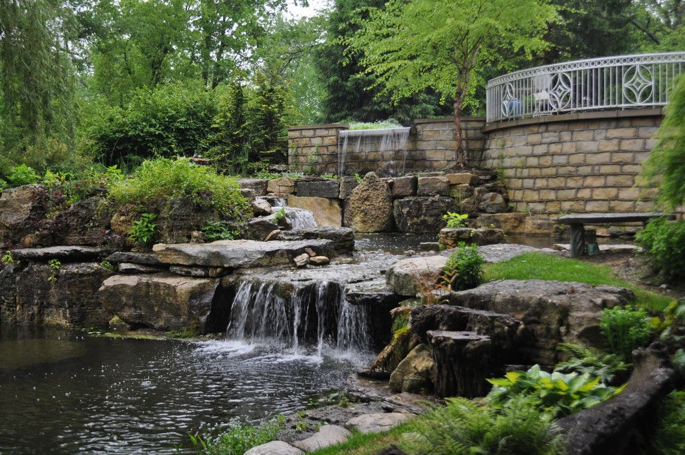 Hilton Garden Inn Louisville Ky for a Traditional Landscape with a Outdoor Water Garden Waterfall Patio Landscape and Residential Watergardens by Water Feature Pros.