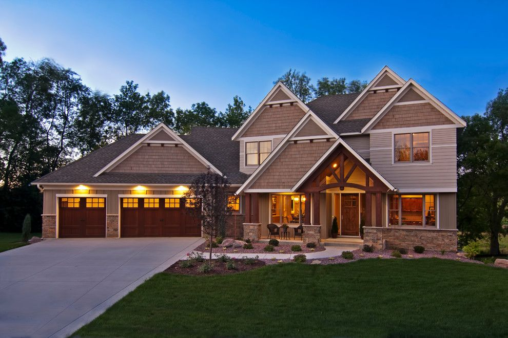 Hirshfields for a Craftsman Exterior with a Custom Made and Taylor Creek   15700 55th Ave N by Creek Hill Custom Homes