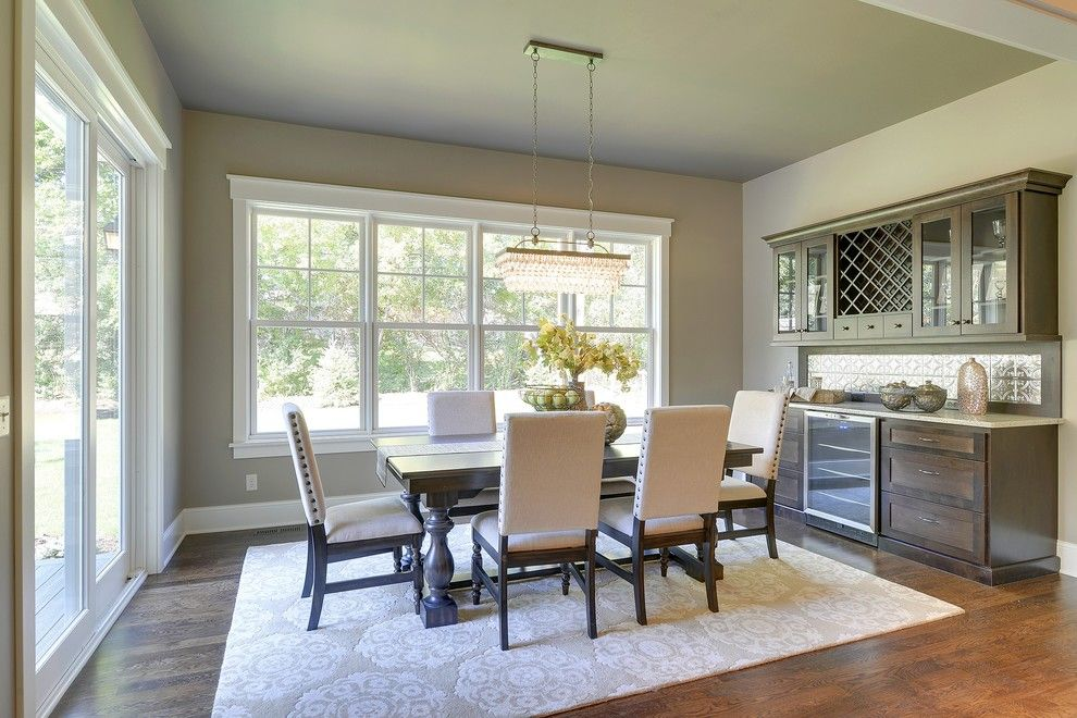 Hirshfields for a Traditional Dining Room with a Dining Lighting and 2013 Fall Parade of Homes by Highmark Builders