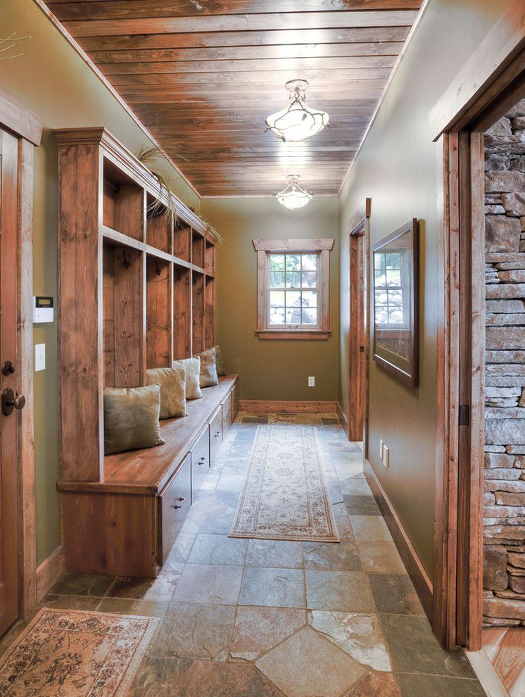 Hirshfields for a Traditional Entry with a Entry and Mudroom by Lands End Development   Designers & Builders