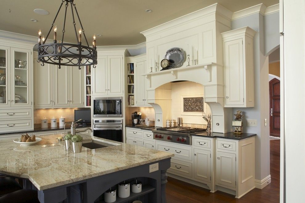 Hirshfields for a Traditional Kitchen with a Open Shelving and Kitchen by Hendel Homes