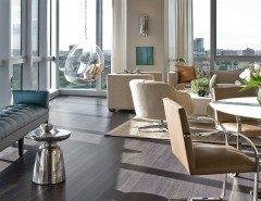 Hive Modern for a Contemporary Dining Room with a High Rise and W Hotel Residence by Terrat Elms Interior Design