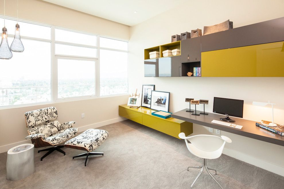 Hive Modern for a Contemporary Home Office with a Vintage and Hollywood Penthouse 2303 by Susan Manrao Design