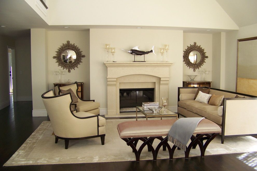 Hobby Lobby Mirrors for a Traditional Living Room with a Neutral Colors and Living by Nina Sobinina Design