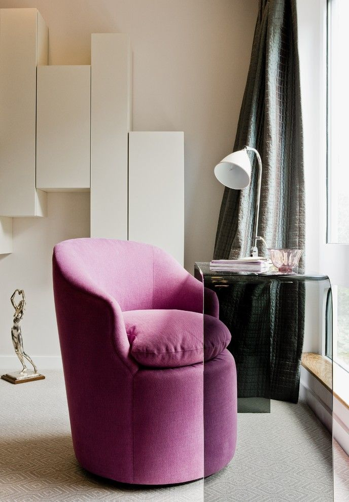 Holland and Sherry for a Contemporary Bedroom with a Bed and 94 Harvard Sq by Platemark Design