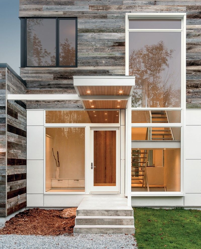Holland and Sherry for a Contemporary Exterior with a White Window Frames and Marvin Windows and Doors by Marvin Windows and Doors