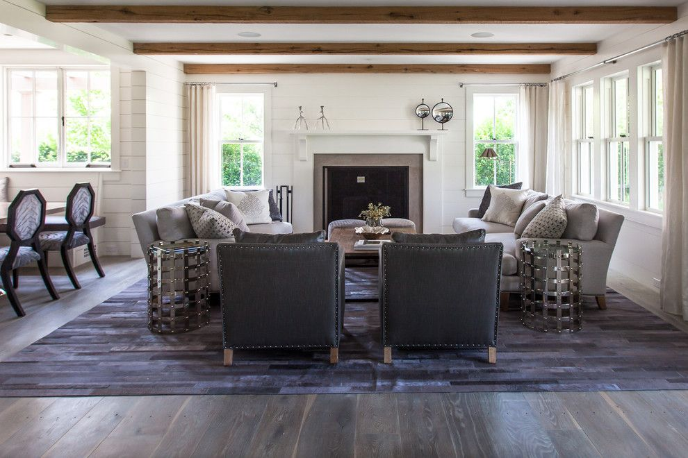 Hom Furniture Fargo for a Beach Style Living Room with a Contempory Interior and Cliff Road Area   Nantucket by Jonathan Raith Inc.