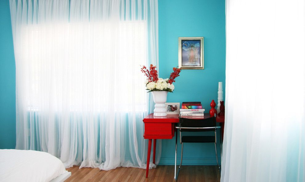 Home Depot Alpharetta for a Contemporary Bedroom with a Wood Desk and Bold Color Modern Bedroom by Product Bureau Llc