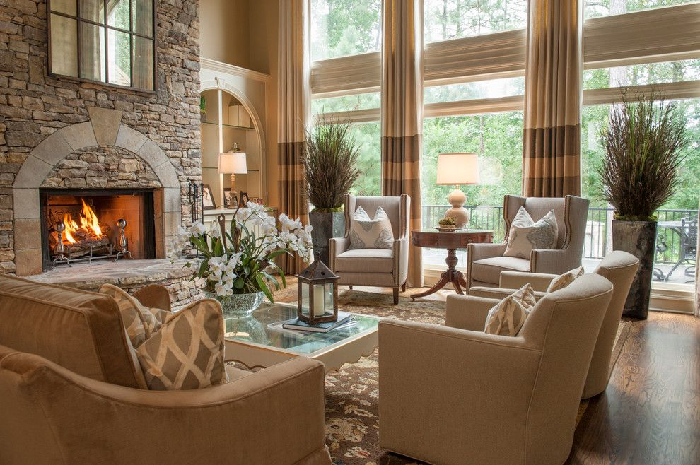 Home Depot Alpharetta for a Traditional Living Room with a Fireplace and Alpharetta, Ga Residence by Regas Interiors, Llc