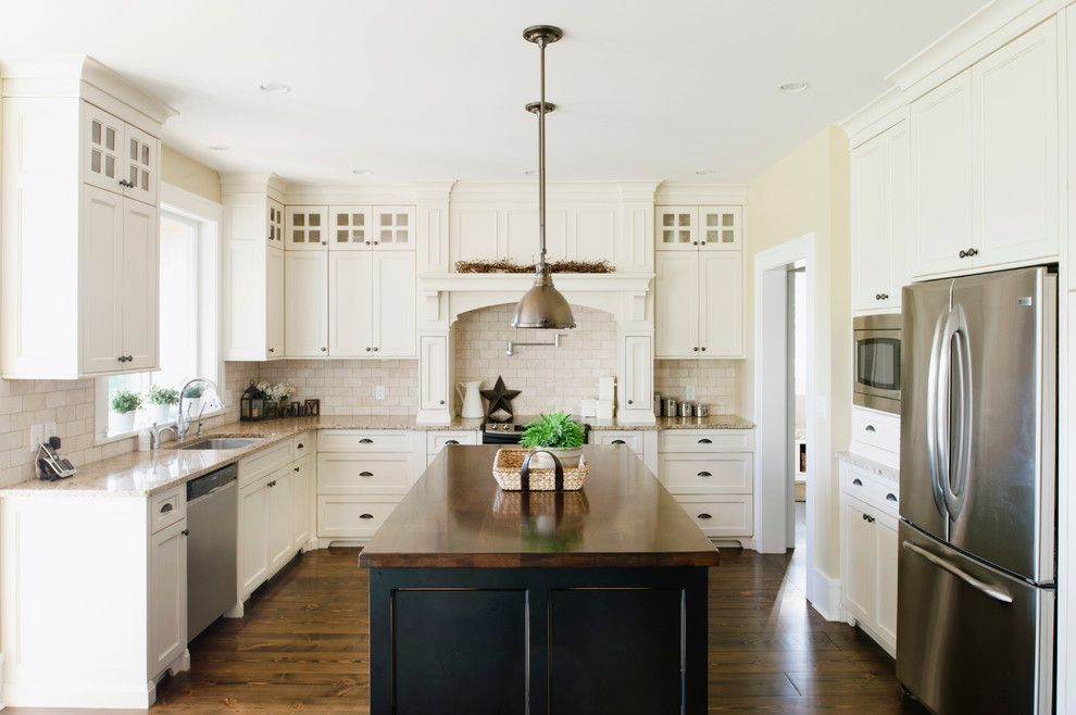 Home Depot Grout Colors for a Traditional Kitchen with a White Cabinets and Farmhouse by Rockridge Fine Homes