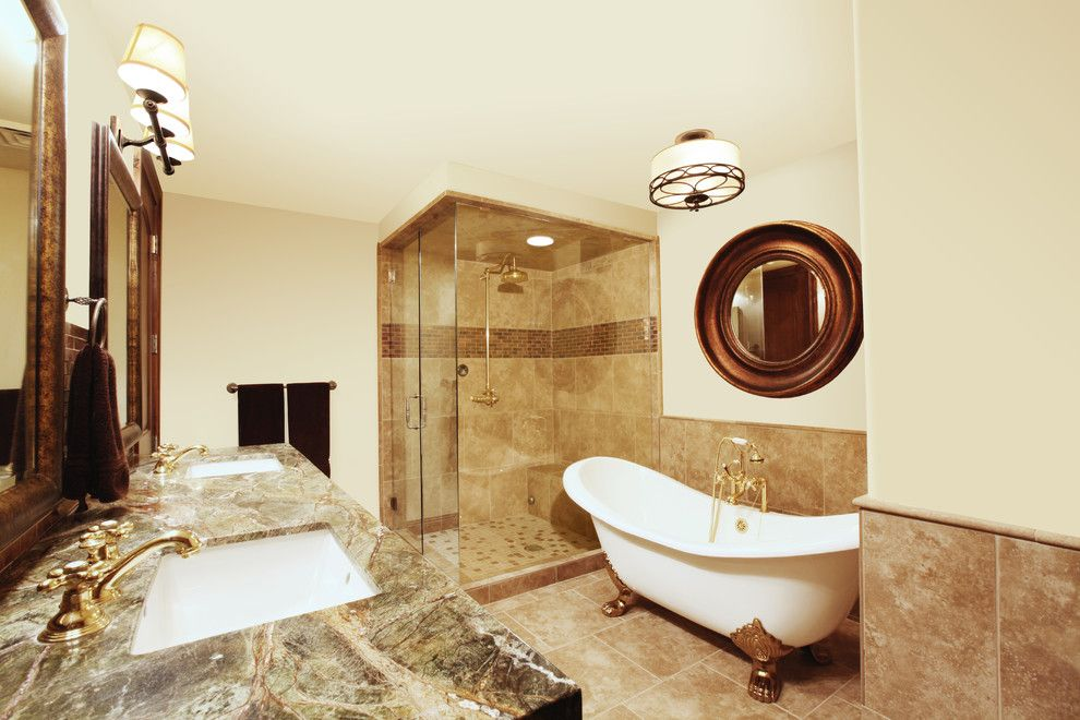 Home Depot Knightdale Nc for a Traditional Bathroom with a Clear Glass and Silver Strike Lodge Penthouse by Alder and Tweed