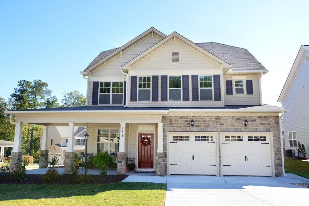 Home Depot Knightdale Nc for a Traditional Exterior with a Front Yard and Single Family Home Exteriors by Terramor Homes