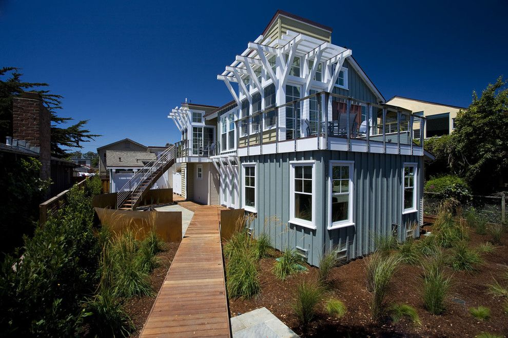 Home Depot Santa Cruz for a Beach Style Exterior with a Deck and Breakers Beach House by Noel Cross+Architects