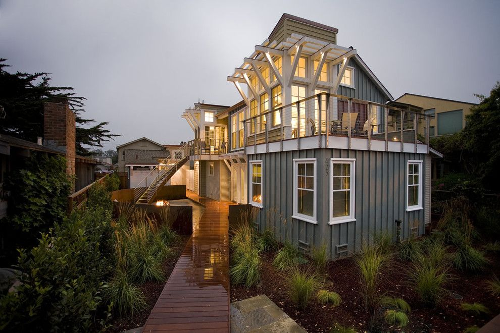 Home Depot Santa Cruz for a Beach Style Exterior with a Pergola and Breakers Beach House by Noel Cross+Architects