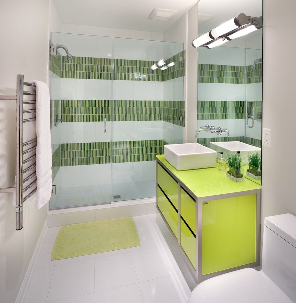 Home Depot Summerville Sc for a Contemporary Bathroom with a Basement Bathrom and Euro Chic by Anthony Wilder Design/build, Inc.