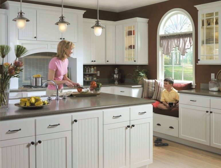 Homecrest Cabinets for a Traditional Kitchen with a Kitchen and Homecrest Bayport Kitchen Cabinets by MasterBrand Cabinets, Inc.