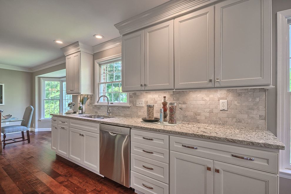 Homecrest Cabinets for a Traditional Kitchen with a Wood Floors and Villa Rehab by Bueler, Inc., Design & Remodeling