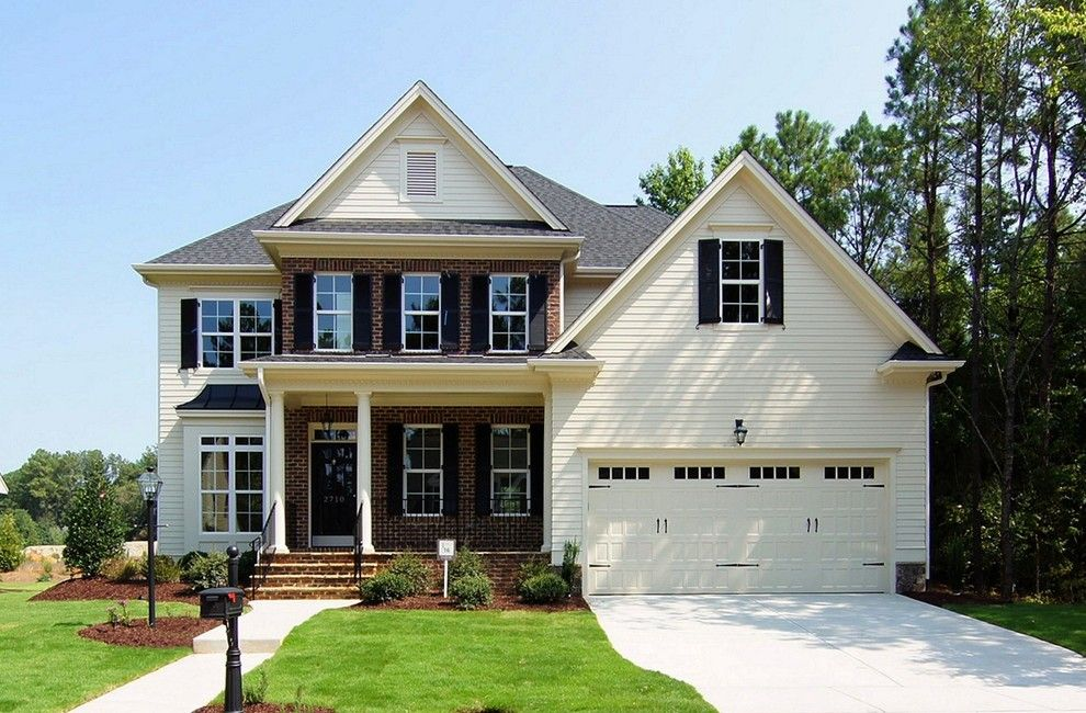 Homes by Dickerson for a Transitional Exterior with a Traditional and the Madison Built by Homes by Dickerson in Raleigh, Nc by Homes by Dickerson
