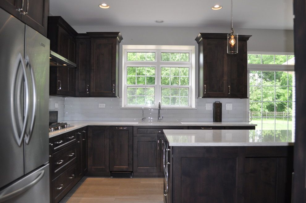 Homewerks for a Transitional Kitchen with a Amish Custom Cabinets and Minooka Kitchen by Homewerks