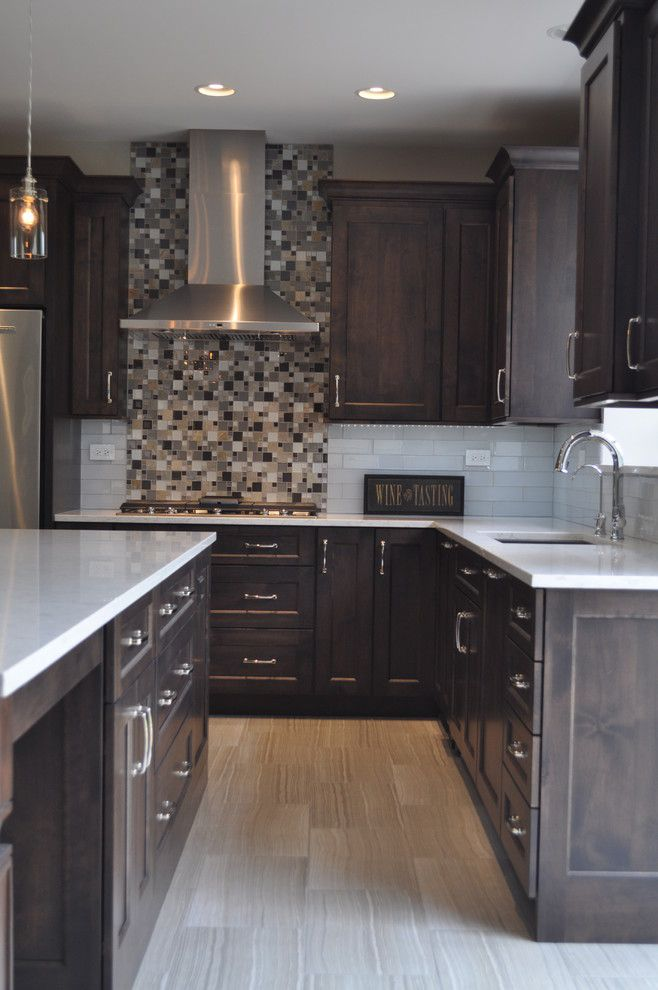 Homewerks for a Transitional Kitchen with a Double Oven and Minooka Kitchen by Homewerks