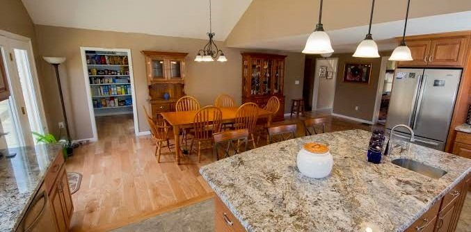 Honed Granite for a Traditional Kitchen with a Traditional and Kitchen Remodeling by Razzano Homes and Remodelers, Inc.