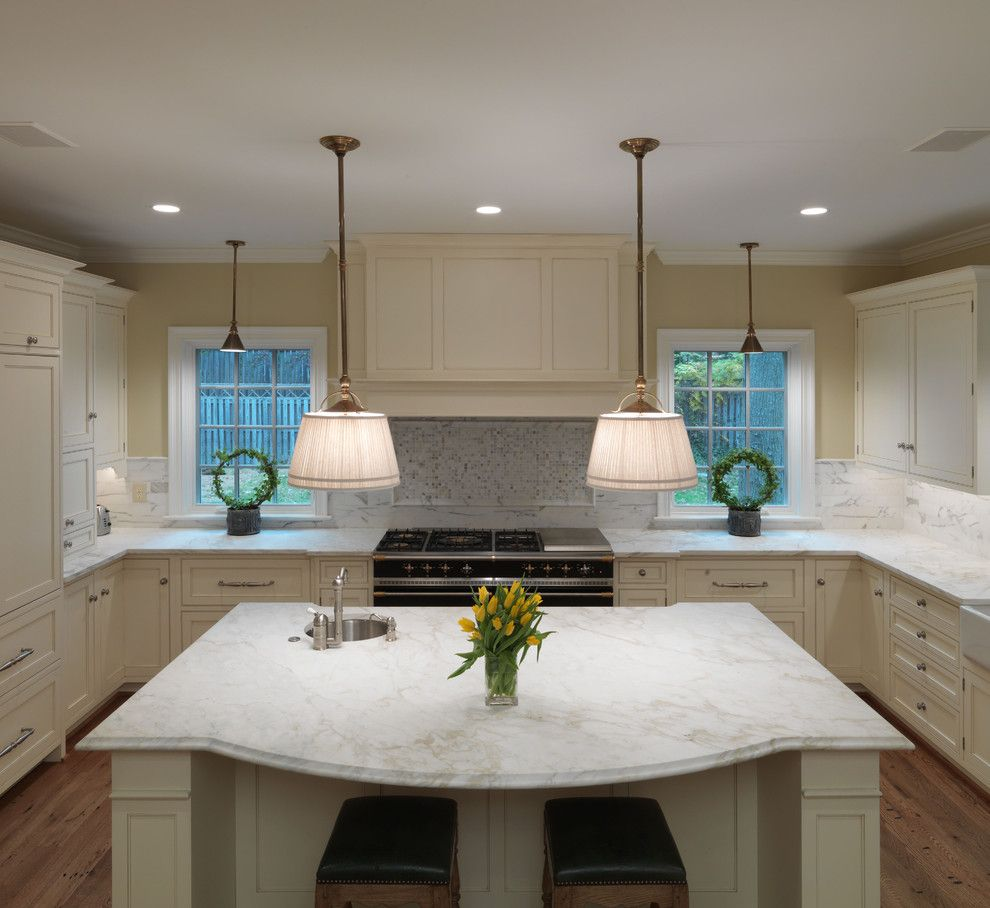 Honed Marble for a Contemporary Kitchen with a White Kitchen and Private Residence I by Rugo Stone, Llc