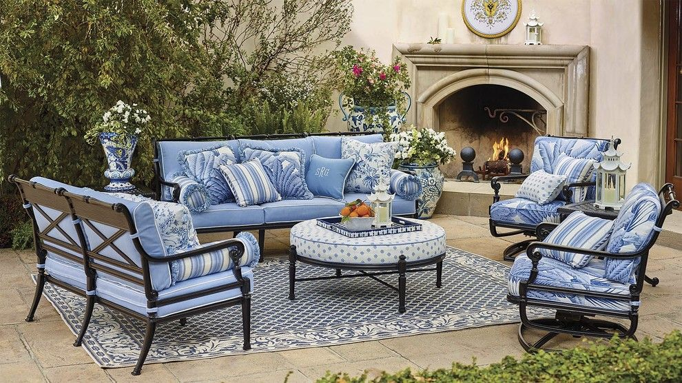Hooks and Lattice for a Eclectic Patio with a Eclectic and Outdoor 2016 by Frontgate