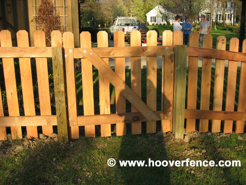 Hoover Fence for a Contemporary Spaces with a Cedar Fence and Cedar Picket Fence by Hoover Fence Company
