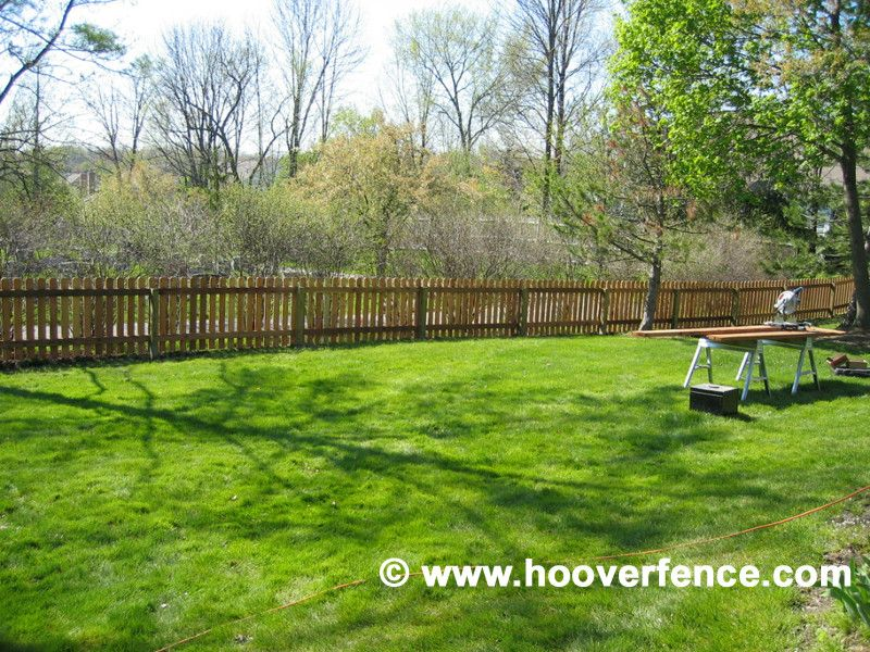 Hoover Fence for a Contemporary Spaces with a Wood Fence and Cedar Picket Fence by Hoover Fence Company