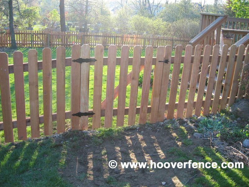 Hoover Fence for a Contemporary Spaces with a Wood Fencing and Cedar Picket Fence by Hoover Fence Company