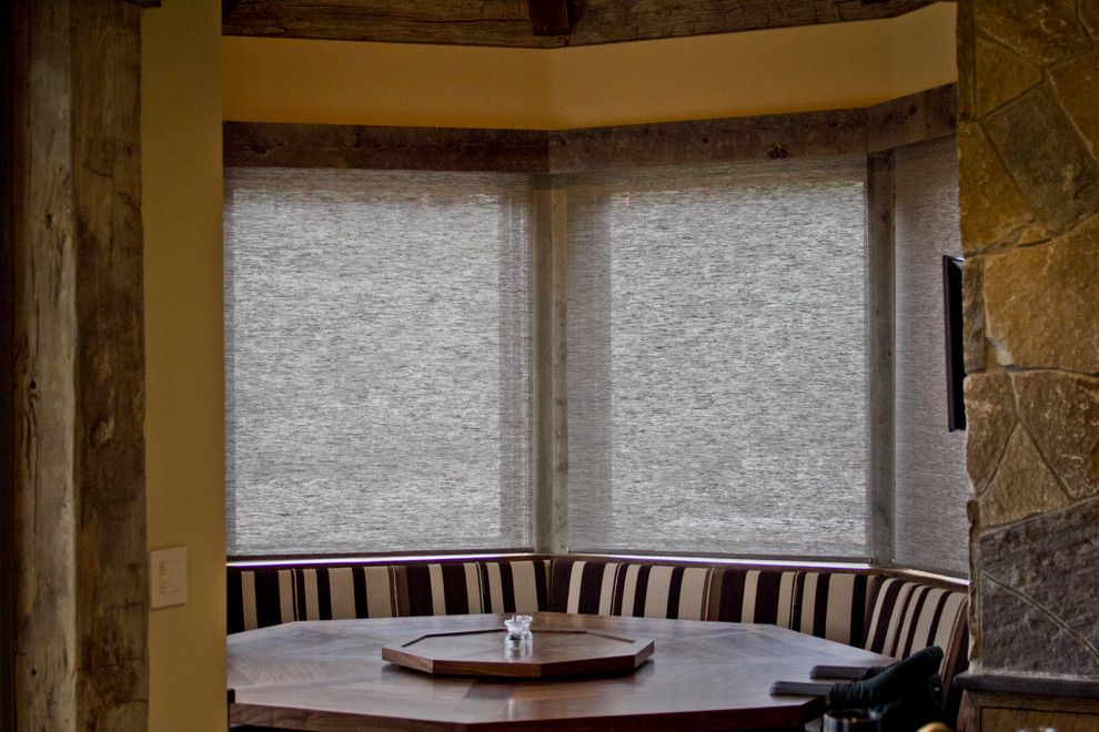 Horizons Window Fashions for a Craftsman Spaces with a Horizon Window Fashions and Hunter Douglas Alustra Shades   Woven Textures by Horizon Window Fashions