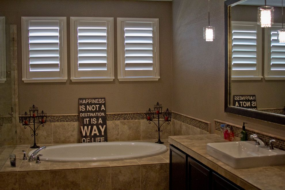 Horizons Window Fashions for a Traditional Bathroom with a Plantation Shutters and Plantation Shutter Projects by Horizon Window Fashions