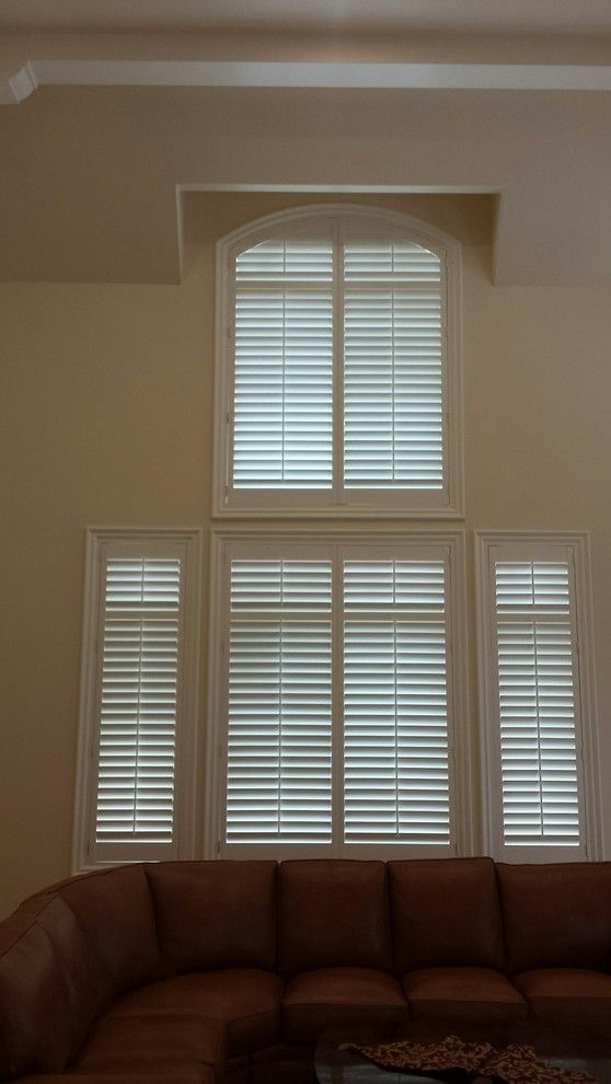 Horizons Window Fashions for a Traditional Spaces with a Arched Top Shutters and Horizon Window Fashions | Recent Installations by Horizon Window Fashions