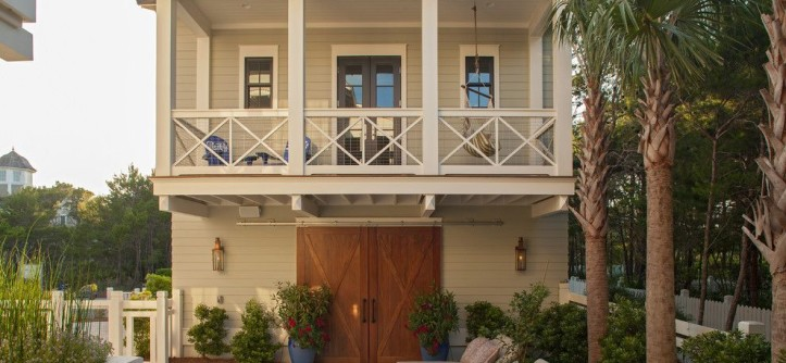 Hortons Lighting for a Beach Style Exterior with a Beige Railing and Crouch Residence by Horton Land Works