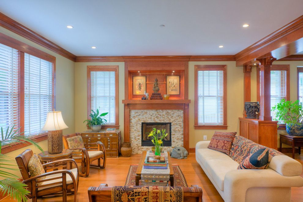Hortons Lighting for a Craftsman Living Room with a Wood Flooring and Landis Construction Corporation a Design Build Firm by Landis Architects / Builders