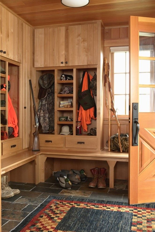 House Hunting Checklist for a Rustic Entry with a Natural Wood and Otter Tail Hunting Lodge by David Heide Design Studio