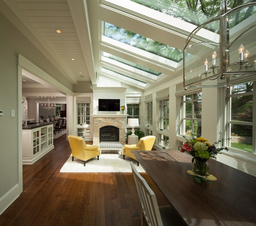 House Hunting Checklist for a Transitional Sunroom with a Breakfast Room and Modern Twist on Tradition by Kyle Hunt & Partners, Incorporated