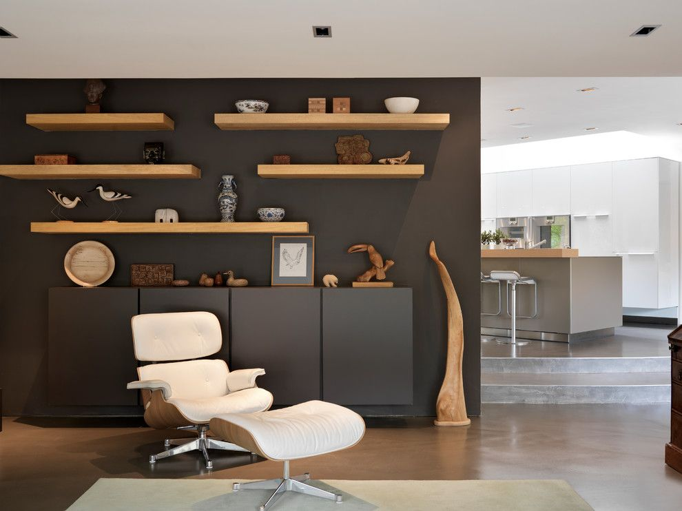 How to Build Floating Shelves for a Contemporary Living Room with a Floating Cabinet and Private Commission by Bulthaup by Kitchen Architecture