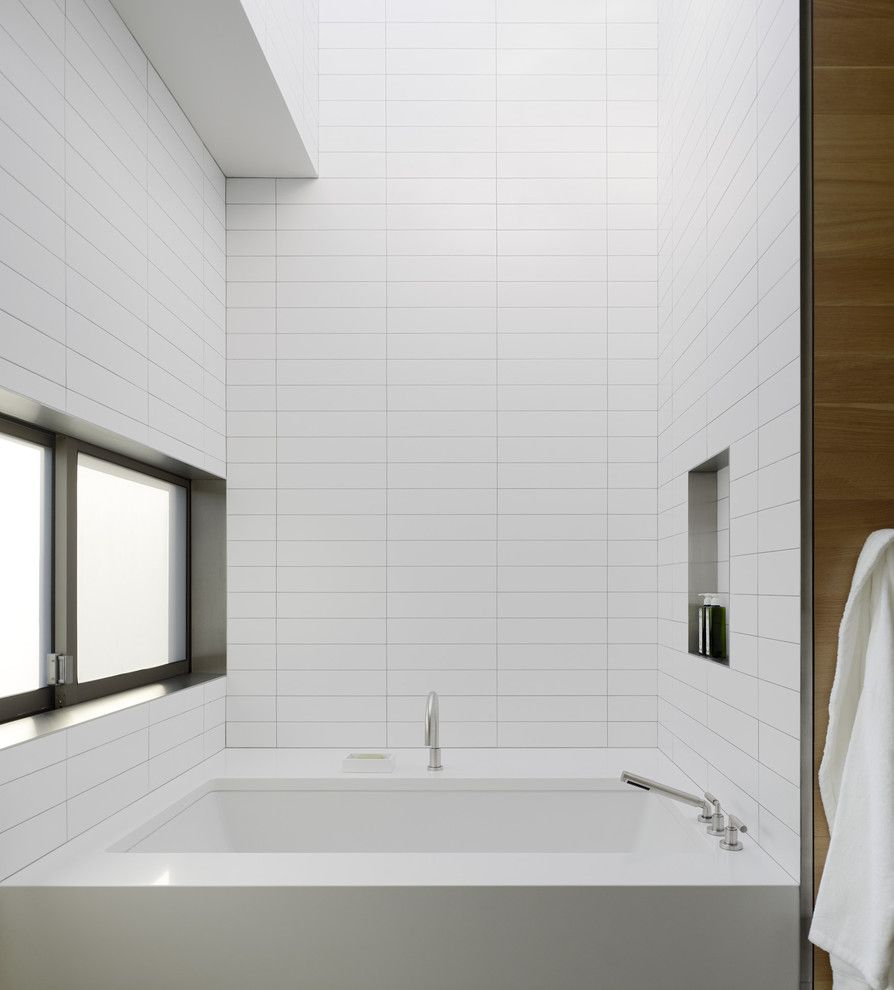 How to Clean Grout Lines for a Modern Bathroom with a Niche and Modern Bathroom by Ccs architecture.com